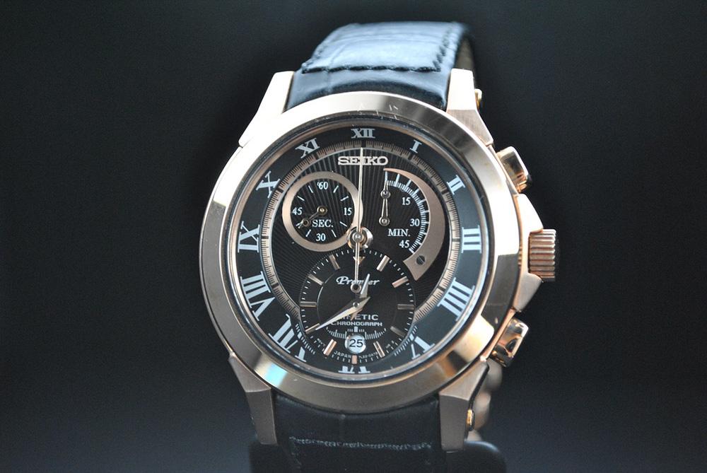 Описание: Мужские часы Seiko Kinetic Chronograph. Часы наручные мужские сейко премиум кинетик фото