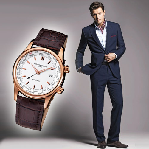 Мужчинам, которые предпочитают классический стиль в одежде следует отдать предпочтение часам круглой формы с циферблатом среднего размера.