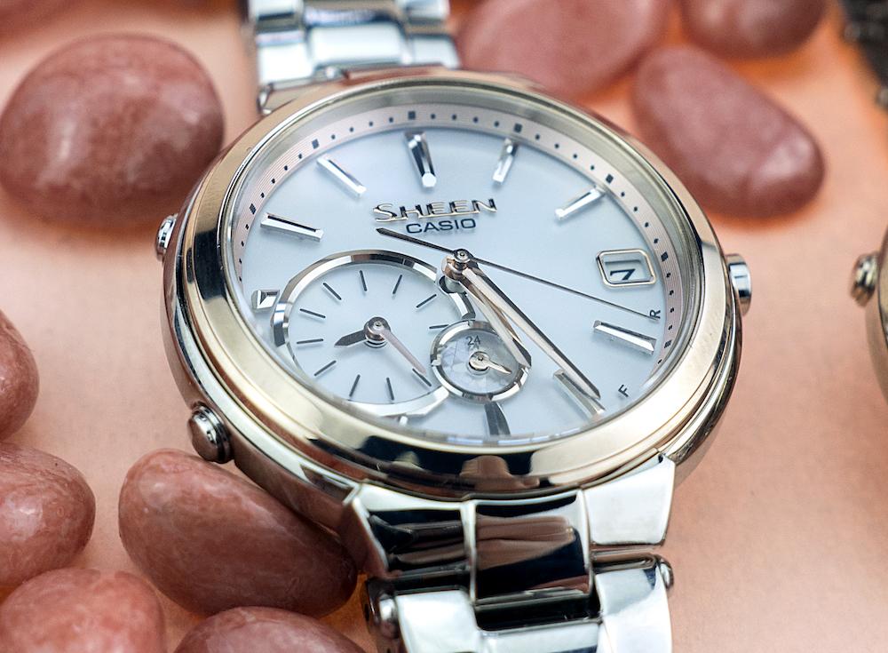 4c3093c42635 Женские японские наручные часы Casio Sheen Bluetooth SHB-200SG-7A