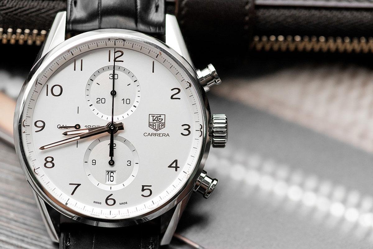 Швейцарские механические наручные часы TAG Heuer Carrera CAR2012.FC6235 с  хронографом 8f129ca8d94