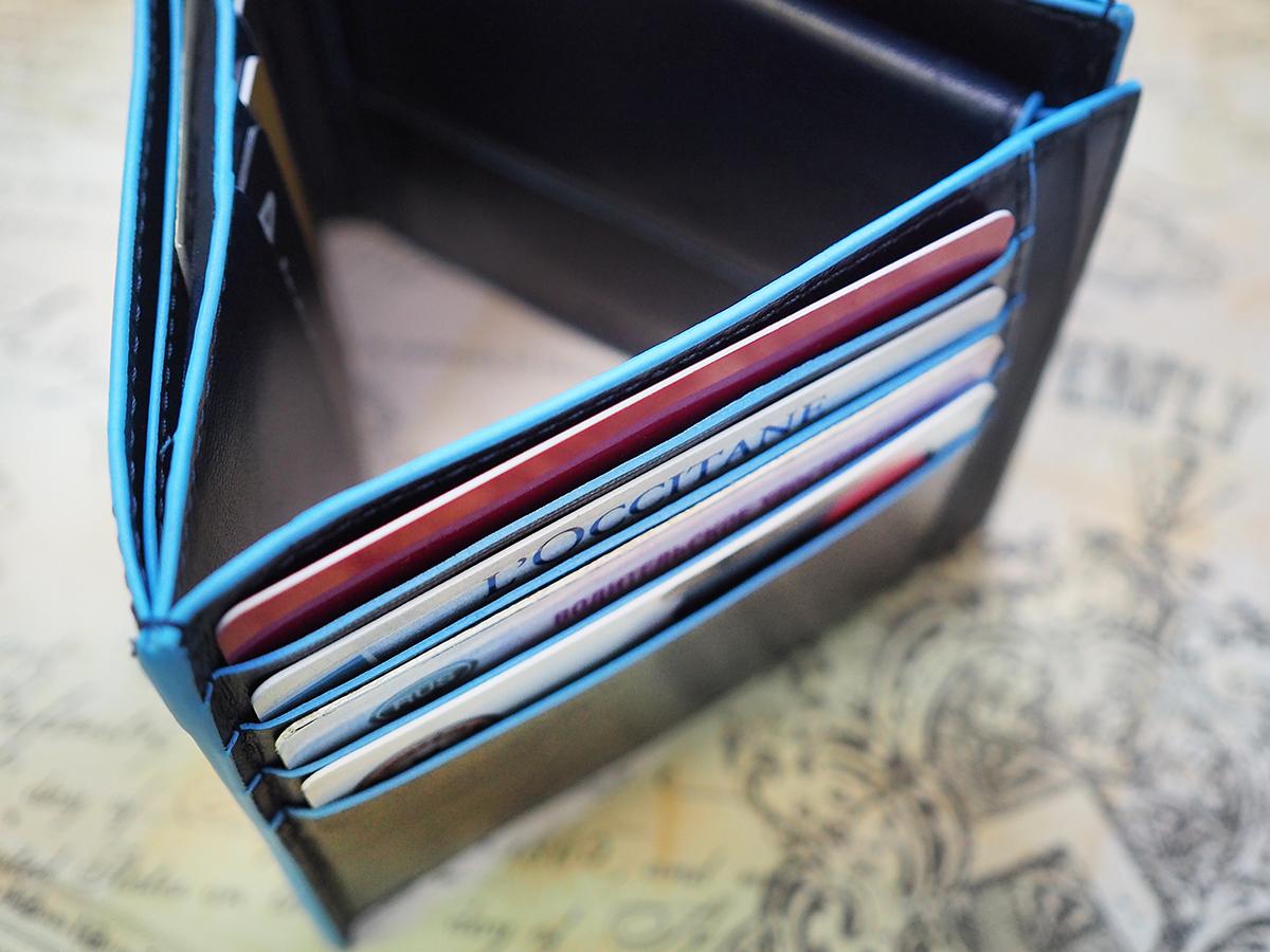 Мужской кожаный кошелек двойного сложения Piquadro B2 PU1240B2 BLU2 45a1ec8f6c2
