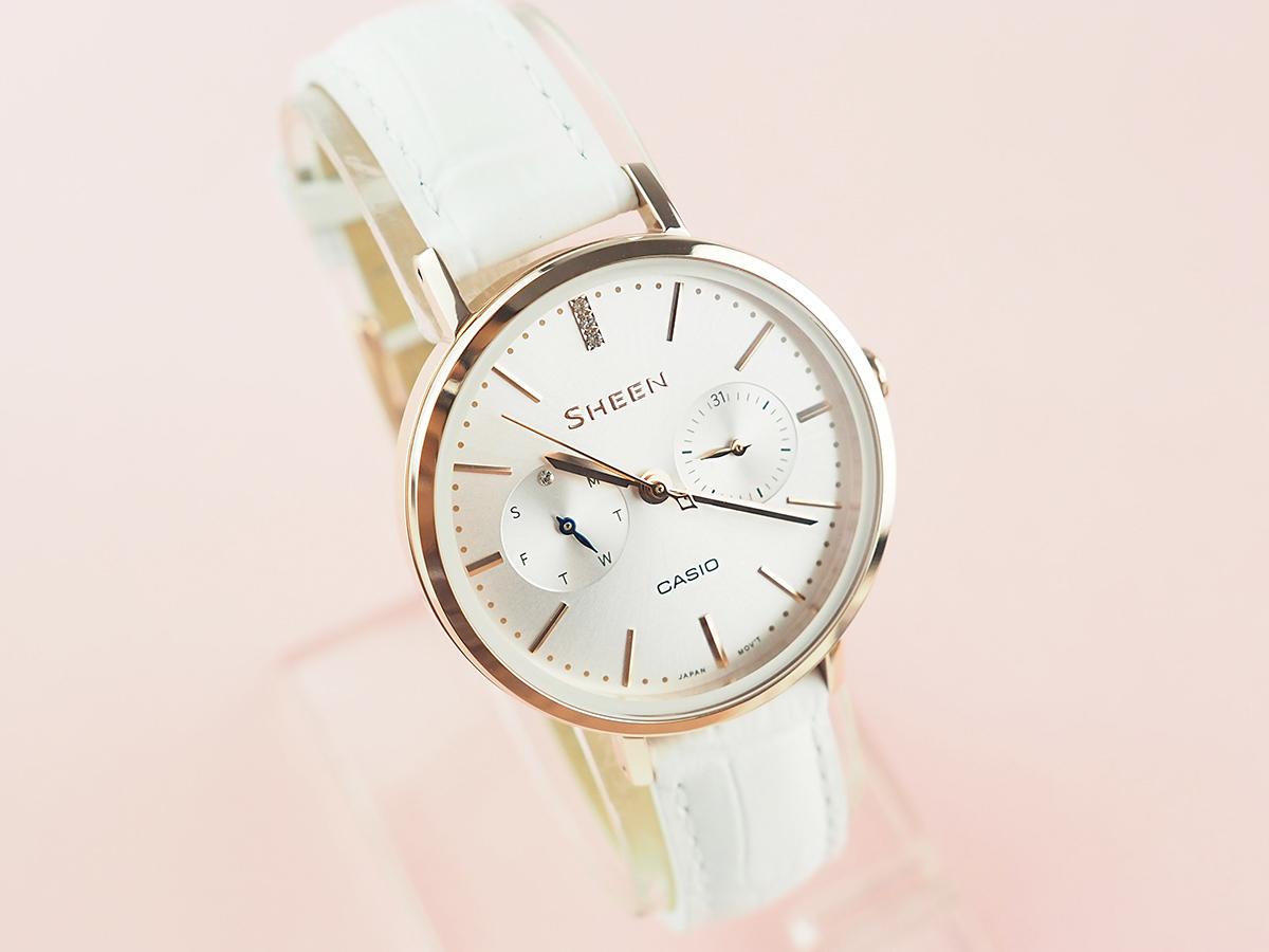 d8d019e739f7 Женские японские наручные часы Casio Sheen SHE-3054PGL-7A
