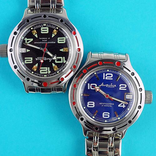 e3099d12bc2c Наручные часы «Амфибия» Чистопольского завода «Восток» вошли в историю как  первые в Советском Союзе, выдерживающие давление на глубине до 200 метров.