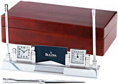 Настольные часы Bulova B7229 настольные часы bulova b7662