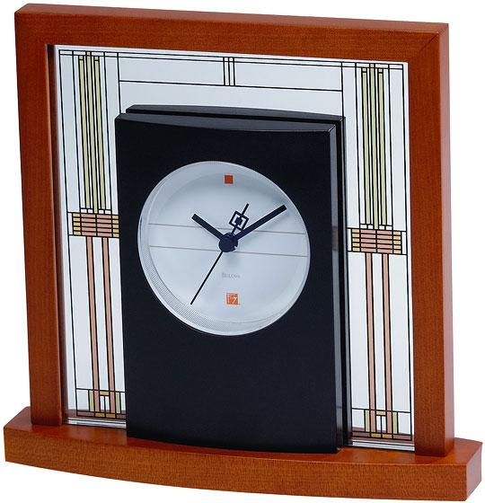 Настольные часы Bulova B7756 who was frank lloyd wright