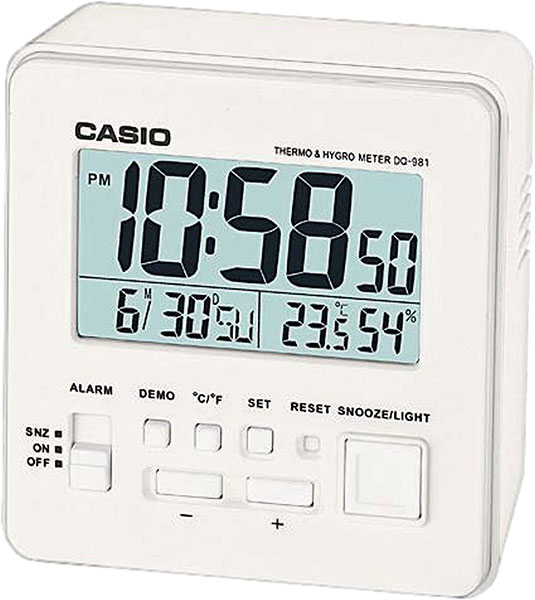 Настольные часы Casio DQ-981-7E настольные часы casio dq 543 3d
