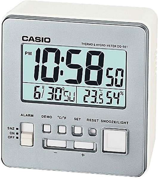 Настольные часы Casio DQ-981-8E casio casio dq 981 2e