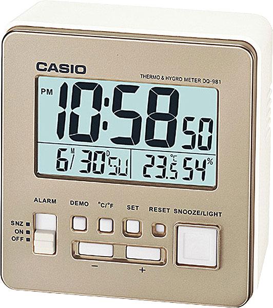 Настольные часы Casio DQ-981-9E casio casio dq 981 2e