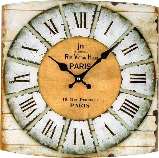 Настенные часы Lowell Low14876 ваза золотые спирали 34см стекло