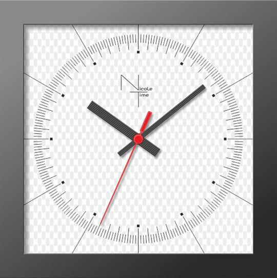 Настенные часы Nicole Time NT301b