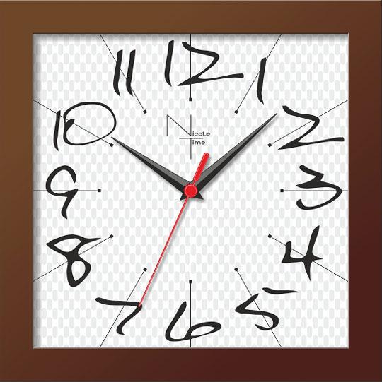 Настенные часы Nicole Time NT302br
