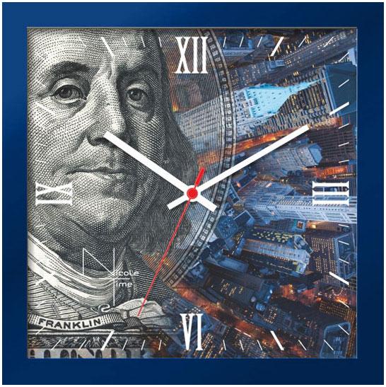 Настенные часы Nicole Time NT662bl