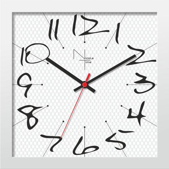 Настенные часы Nicole Time NT668w