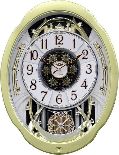 Настенные часы Rhythm 4MH842WD18 single wood tone block rhythm percussion