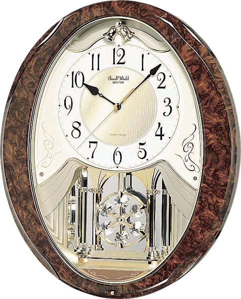 Настенные часы Rhythm 4MJ862WD23 single wood tone block rhythm percussion