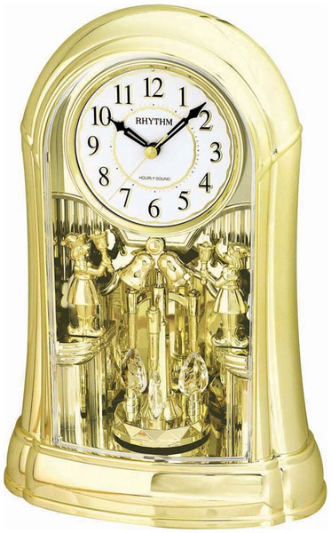 Настольные часы Rhythm 4RH775WD18 olevs sports men quartz watches top brand luxury carbon fiber dial watch clock steel mesh strap male chronograph wristwatch 6818