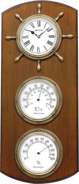 Настенные часы Rhythm CFG902NR06 часы настенные la mer с гигрометром и термометром d324мм