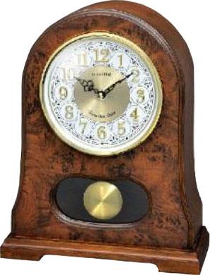 Фото «Деревянные настольные часы Rhythm CRJ753NR06 с маятником»