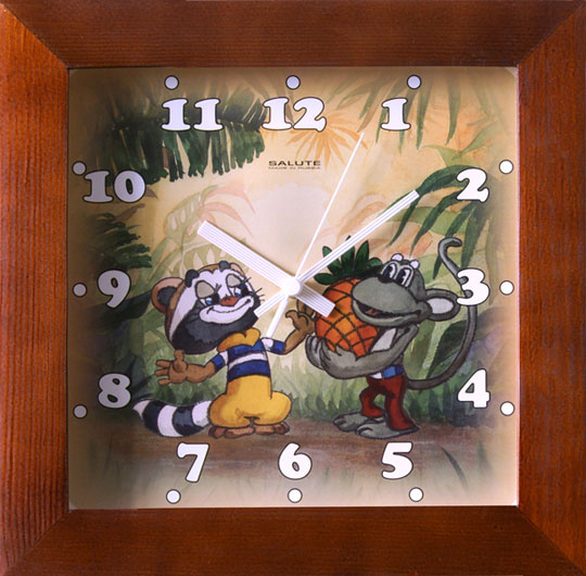 Фото «Деревянные настенные часы Салют DS-2AA28-425-KROSHKA-ENOT»