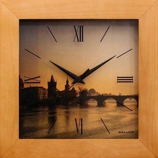 Настенные часы Салют DST-2AA25-318-KARLOV-MOST настенные часы салют p 2a6 073
