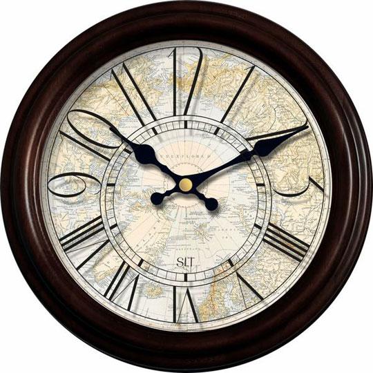 Настенные часы Салют DST-5BB6-798 настенные часы салют p 2a6 073