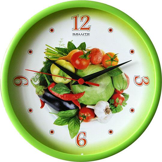Настенные часы Салют P-2B3.4-335-OVOSHHI2 настенные часы салют p b3 364 medvezhonok