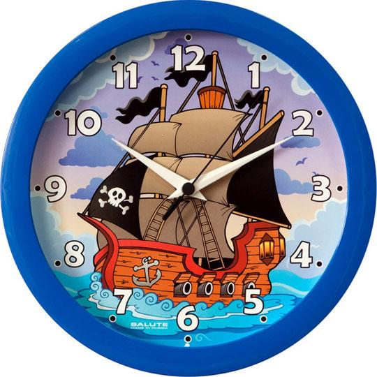 Настенные часы Салют P-B4-449-PIRATSKIJ-KORABL