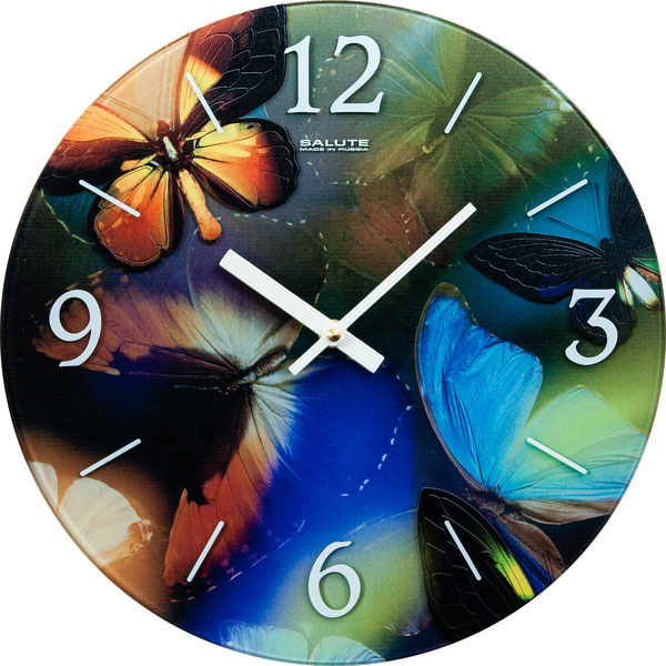 Настенные часы Салют SLT-5801-BUTTERFLY настенные часы салют p b3 364 medvezhonok