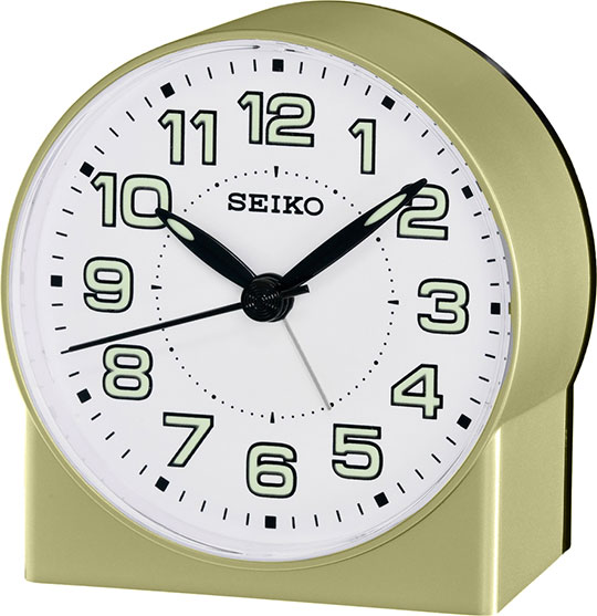 Настольные часы Seiko QHE084G будильник кварцевый mikhail moskvin цвет золотой 2816 5