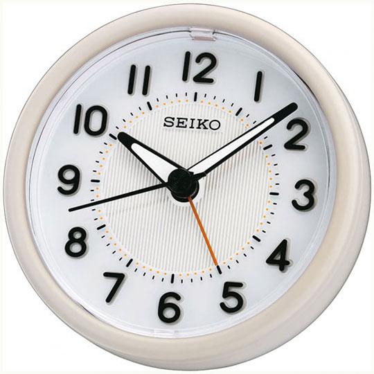 Настольные часы Seiko QHE087W будильник кварцевый mikhail moskvin цвет золотой 2816 5