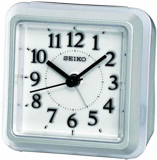 Настольные часы Seiko QHE090S будильник кварцевый mikhail moskvin цвет серебристый 382 3