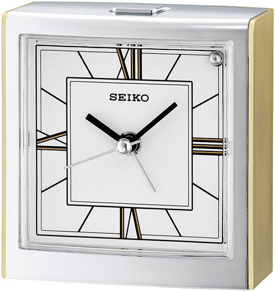 Настольные часы Seiko QHE123G будильник кварцевый mikhail moskvin цвет золотой 2816 5