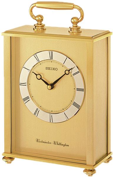 Настольные часы Seiko QHJ201G каминные часы из бронзы в москве