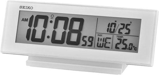Настольные часы Seiko QHL072W часы настольные мотоцикл с термометром 295х220мм