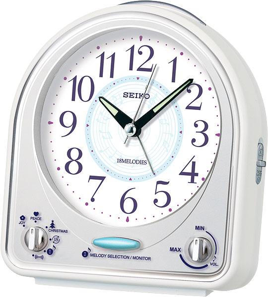 Настольные часы Seiko QHP003W будильник кварцевый mikhail moskvin цвет золотой 2816 5