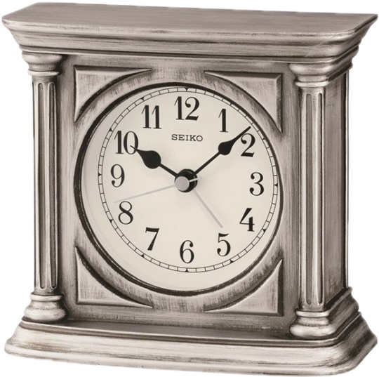 Настольные часы Seiko QXE051S будильник кварцевый mikhail moskvin цвет серебристый 382 3