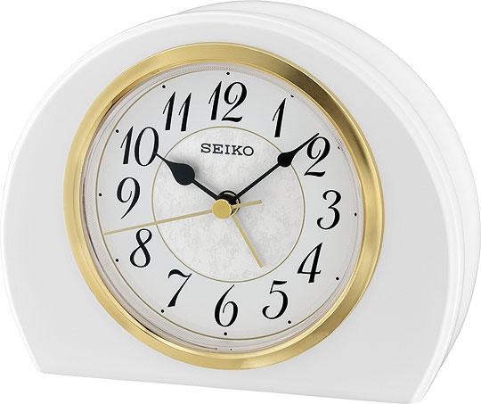 Настольные часы Seiko QXE054W будильник кварцевый mikhail moskvin цвет золотой 2816 5