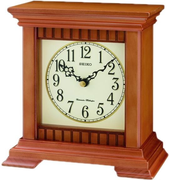 Фото «Деревянные настольные часы Seiko QXJ028A»