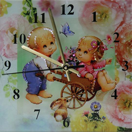 Настенные часы Картины Swarovski potekhe-chas