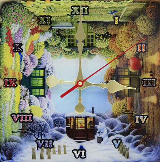 Настенные часы Картины Swarovski vremena-goda