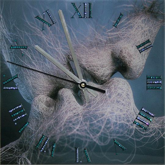 Настенные часы Картины Swarovski vremya-lyubvi kak dishat vo vremya kormleniya piyavki i minogi