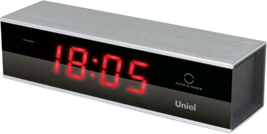Настольные часы Uniel UTL-17RKM настольные часы uniel bv 475r
