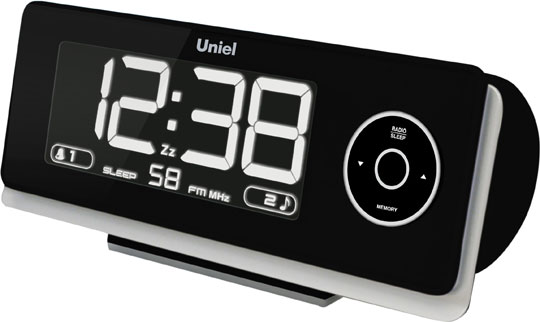 Настольные часы Uniel UTP-43K радиобудильник uniel utp 80