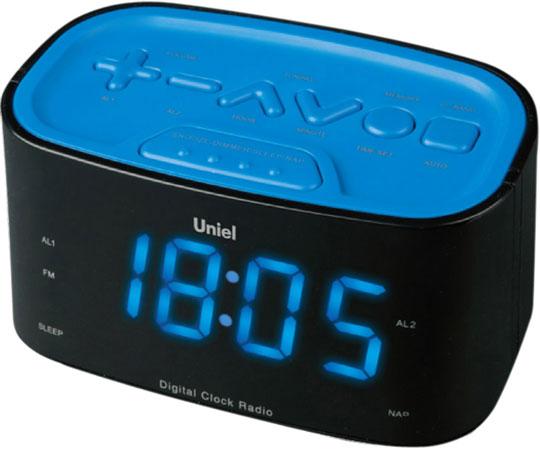 Настольные часы Uniel UTR-33BBK настольные часы uniel bv 475r