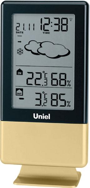 Настольные часы Uniel UTV-81G метеостанция uniel utv 65
