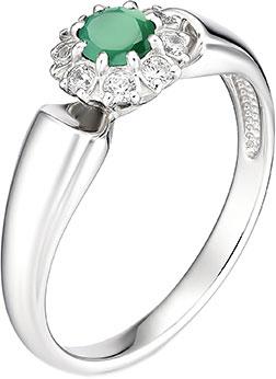 Кольца Алькор 01-0888/00AG-00 женские кольца магия золота женское серебряное кольцо с куб циркониями mg99893z 18