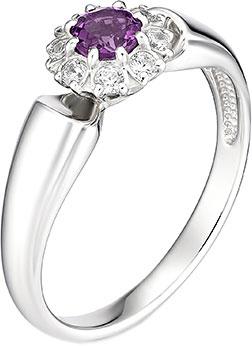 Кольца Алькор 01-0888/00AM-00 женские кольца магия золота женское серебряное кольцо с куб циркониями mg99893z 18