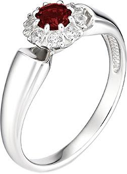 Кольца Алькор 01-0888/00GR-00 женские кольца магия золота женское серебряное кольцо с куб циркониями mg99893z 18