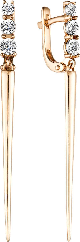 Золотые серьги Серьги Алькор 23483-100 фото