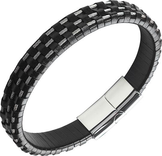Браслеты Anton Smith AS-BR018-bkgr натуральной кожи европейского шарма wrap браслеты трехместный loop черный